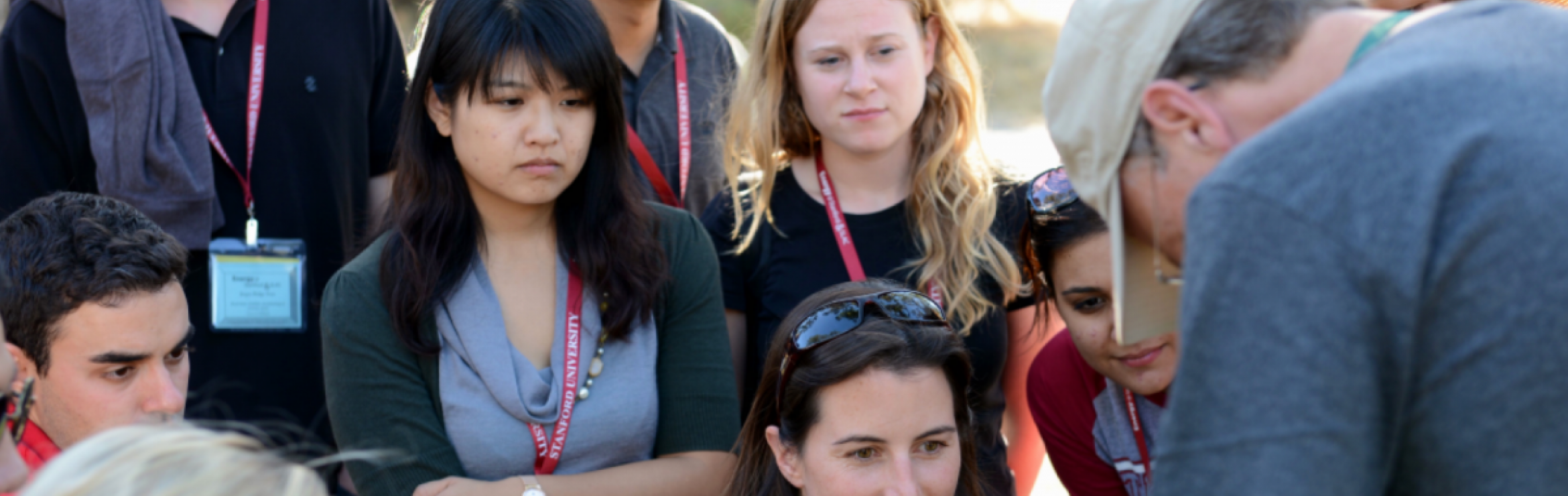 Group of students looking at something