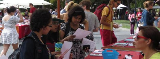Students at resource fair