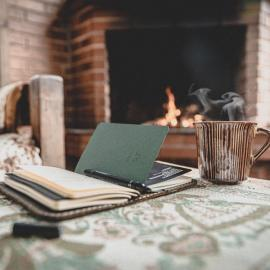 book by a fire