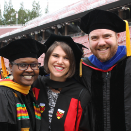Three DARE Fellows at commencement