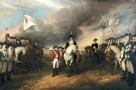 The painting, The Surrender of Lord Cornwallis by John Trumbull