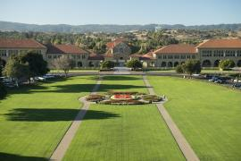 front of the stanford campus