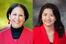 Photos of Judy C. Miner and Thuy Nguyen