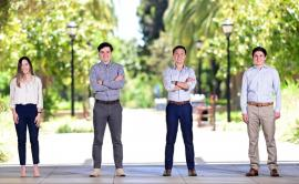 Stanford Law students Tyler McClure, Guillaume Julian, David Liou, and Justin Garfinkle