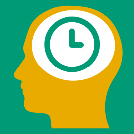 Graphic of a person thinking about time.